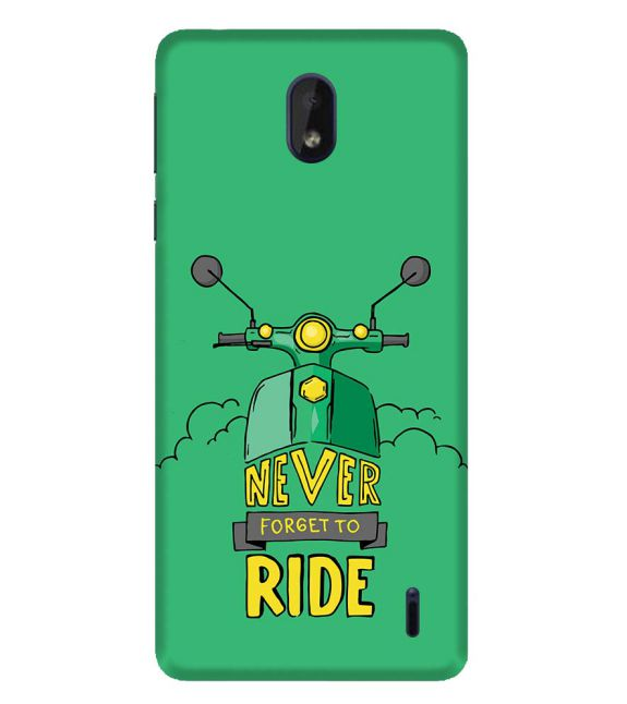 Never Forget to Ride Back Cover for Nokia 1 Plus