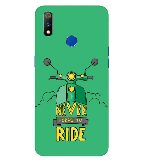 Never Forget to Ride Back Cover for Realme 3 Pro