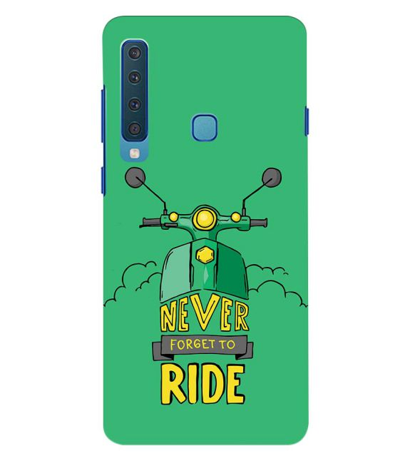 Never Forget to Ride Back Cover for Samsung Galaxy A9 (2018)