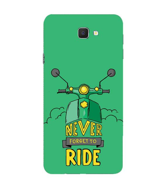 Never Forget to Ride Back Cover for Samsung Galaxy C9 Pro