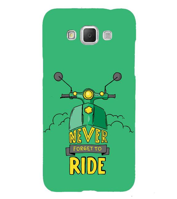 Never Forget to Ride Back Cover for Samsung Galaxy Grand Max G720
