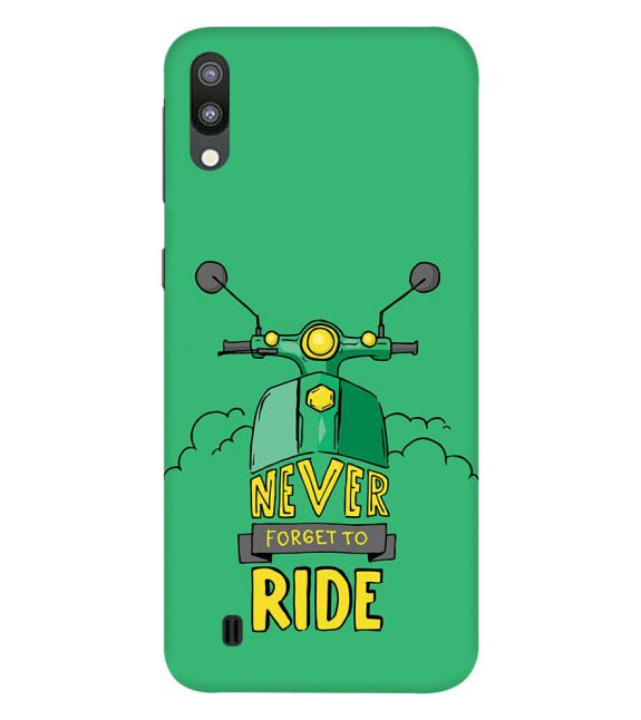 Never Forget to Ride Back Cover for Samsung Galaxy M10