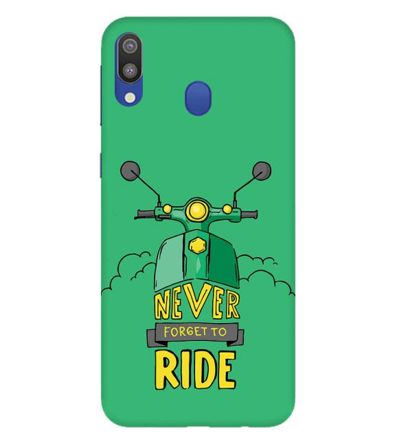 Never Forget to Ride Back Cover for Samsung Galaxy M20