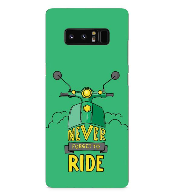 Never Forget to Ride Back Cover for Samsung Galaxy Note 8