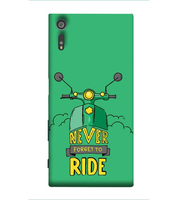Never Forget to Ride Back Cover for Sony Xperia XZ