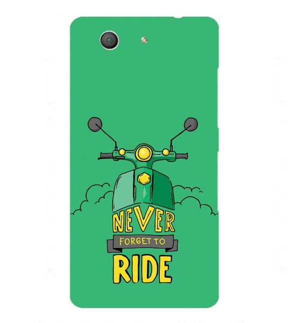 Never Forget to Ride Back Cover for Sony Xperia Z3+ and Xperia Z4