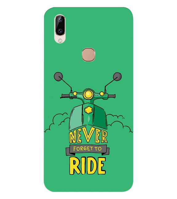 Never Forget to Ride Back Cover for Vivo Y83 Pro