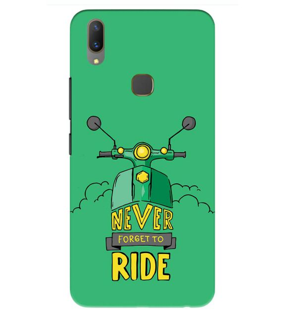 Never Forget to Ride Back Cover for Vivo Y85