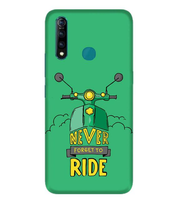 Never Forget to Ride Back Cover for Vivo Z1 Pro