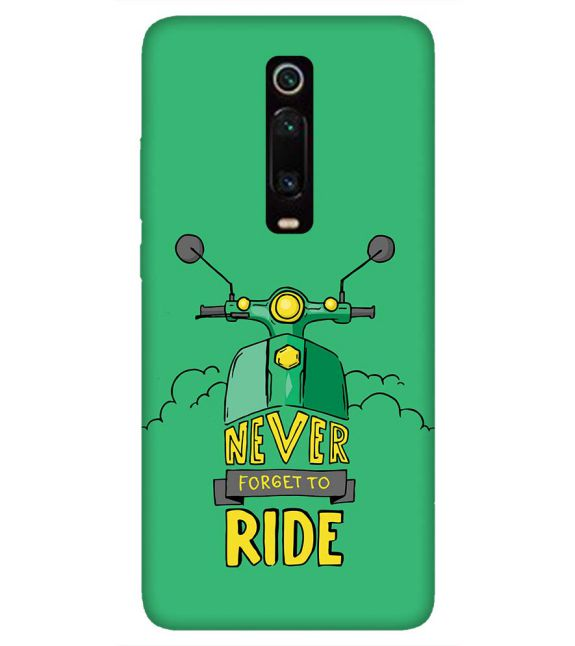 Never Forget to Ride Back Cover for Xiaomi Redmi K20 and K20 Pro