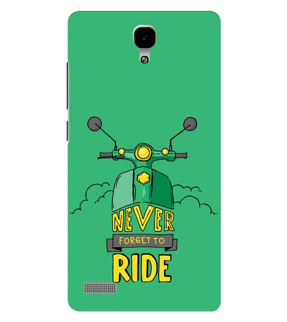 Never Forget to Ride Back Cover for Xiaomi Redmi Note 4G
