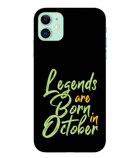 October Legends Back Cover for Apple iPhone 11