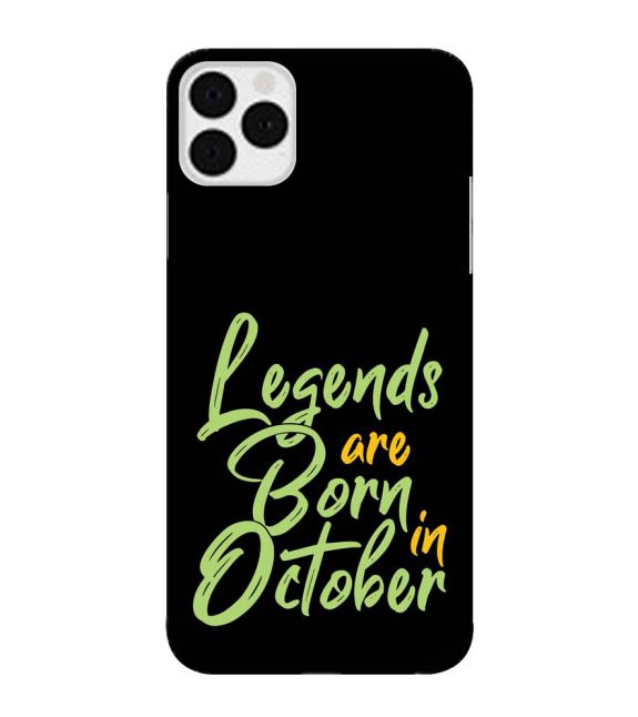October Legends Back Cover for Apple iPhone 11 Pro Max