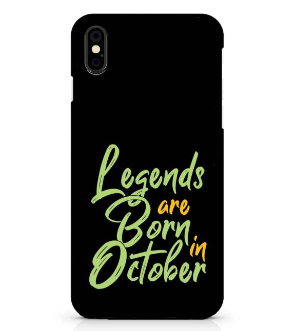 October Legends Back Cover for Apple iPhone X