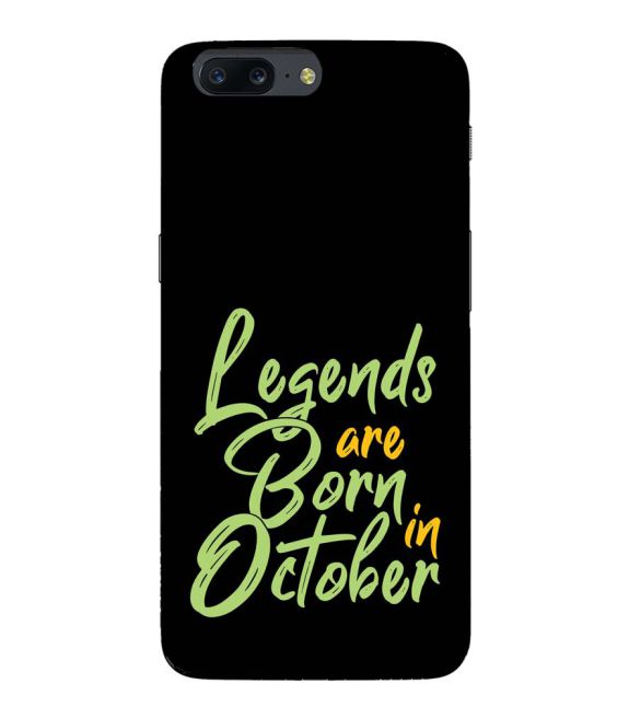 October Legends Back Cover for OnePlus 5