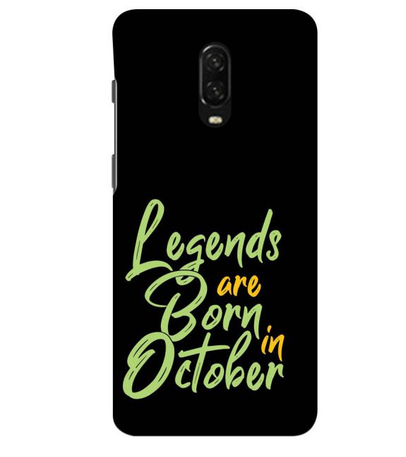 October Legends Back Cover for OnePlus 6T