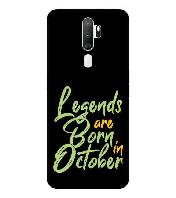 October Legends Back Cover for Oppo A5 (2020)