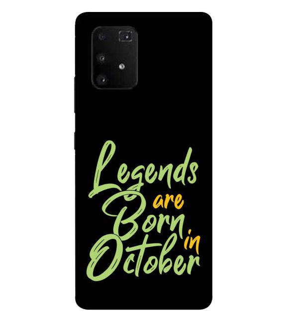 October Legends Back Cover for Samsung Galaxy A91