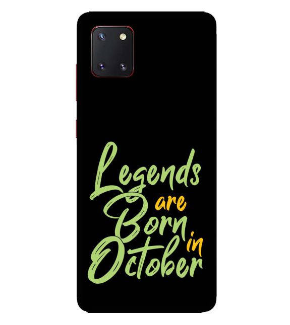 October Legends Back Cover for Samsung Galaxy Note10 Lite