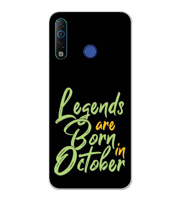 October Legends Back Cover for Tecno Camon 12 Air