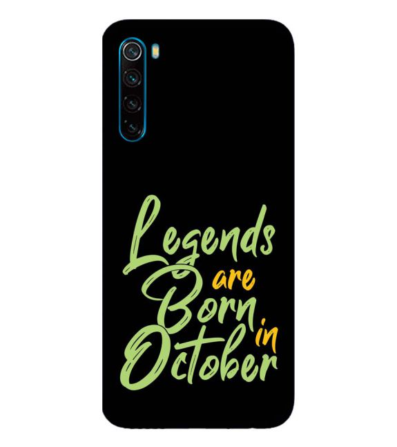October Legends Back Cover for Xiaomi Redmi Note 8