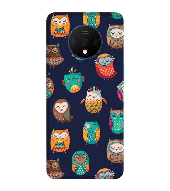 Owly Pattern Back Cover for OnePlus 7T