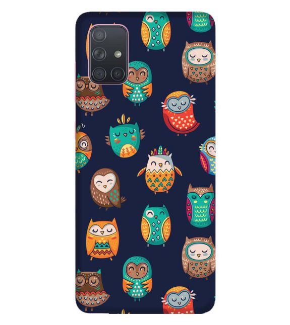 Owly Pattern Back Cover for Samsung Galaxy A71