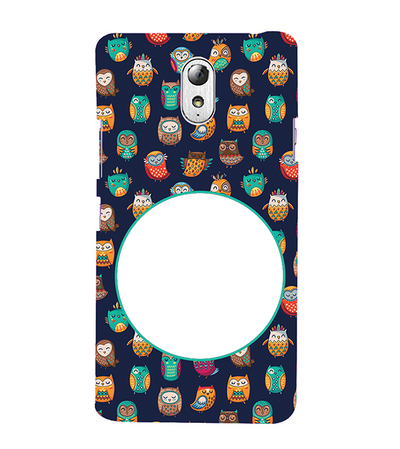 Owly Pattern Photo Back Cover for