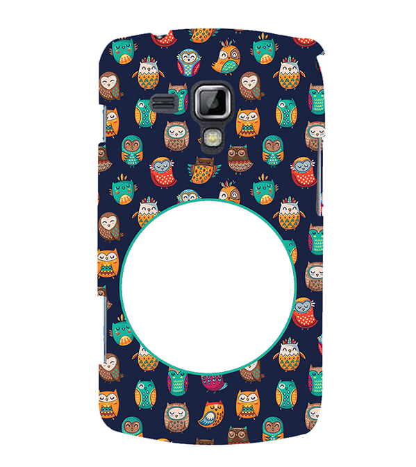 Cool Patterns Photo Back Cover for Samsung Galaxy S Duos and S Duos 2