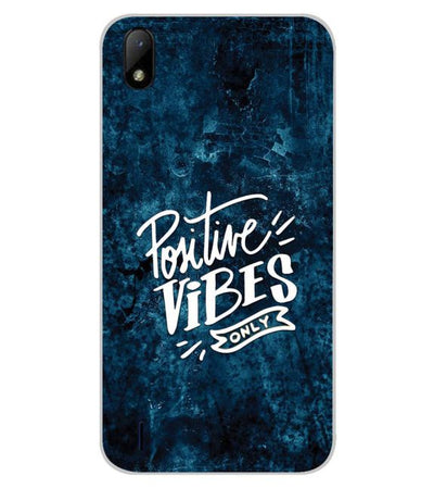 Positive Vibes Only Back Cover for Lava Z41