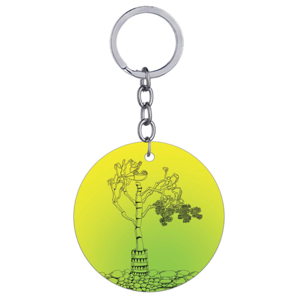 Bone tree Round Keychain