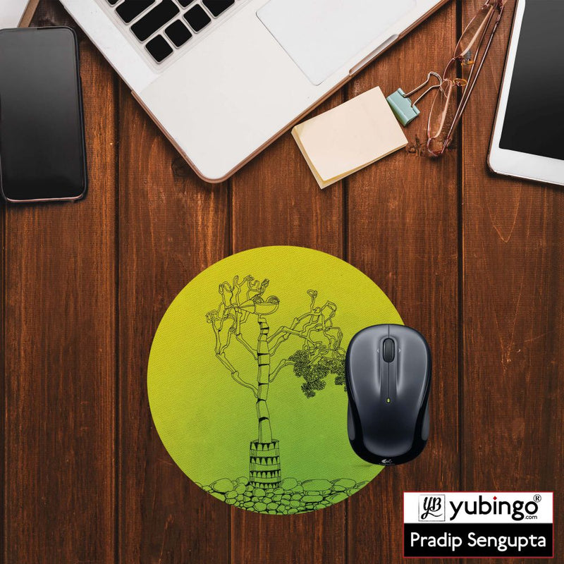 Bone tree Mouse Pad (Round)