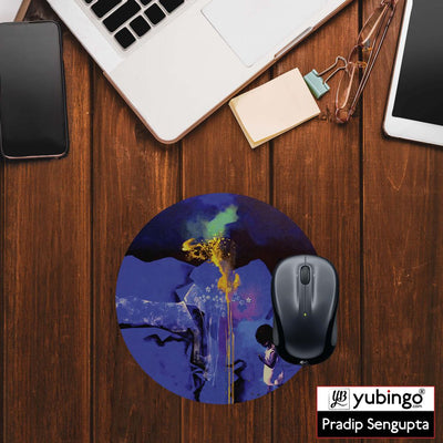 Brightest One Mouse Pad (Round)-Image2