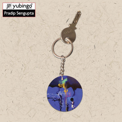Brightest One Round Keychain-Image3