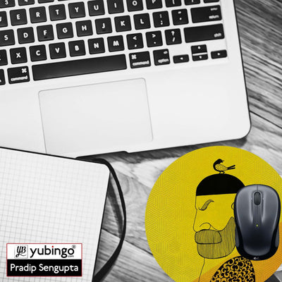 Common man Mouse Pad (Round)-Image4