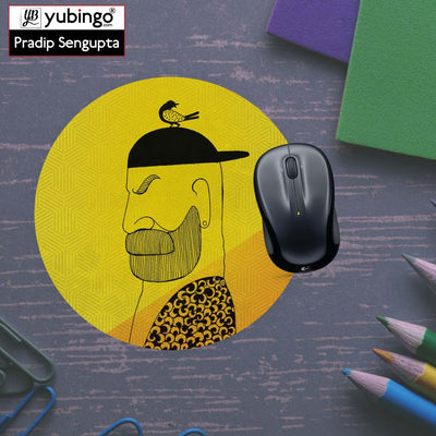 Common man Mouse Pad (Round)-Image5