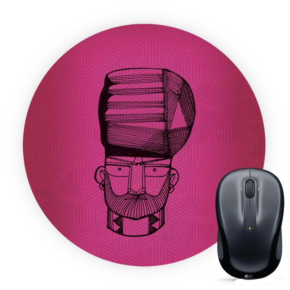 Intense look Mouse Pad (Round)