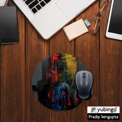 Superman Mouse Pad (Round)-Image2