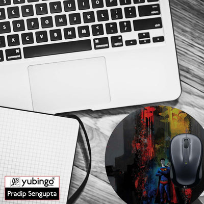 Superman Mouse Pad (Round)-Image4