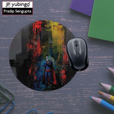 Superman Mouse Pad (Round)-Image5