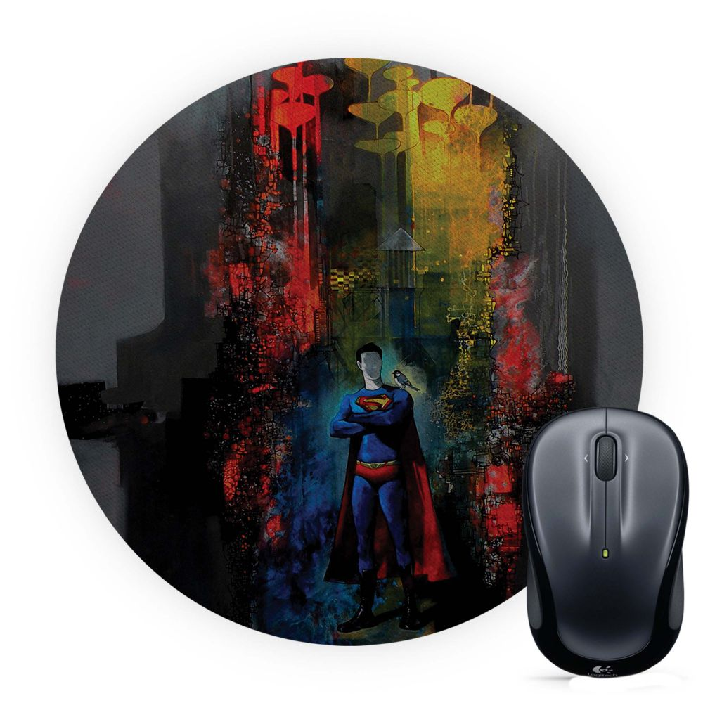 Superman Mouse Pad (Round)