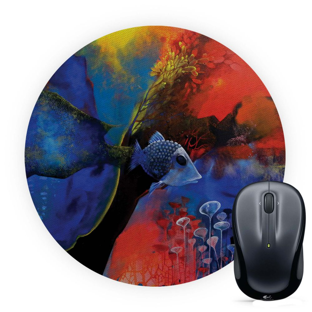 The Golden Trap Mouse Pad (Round)