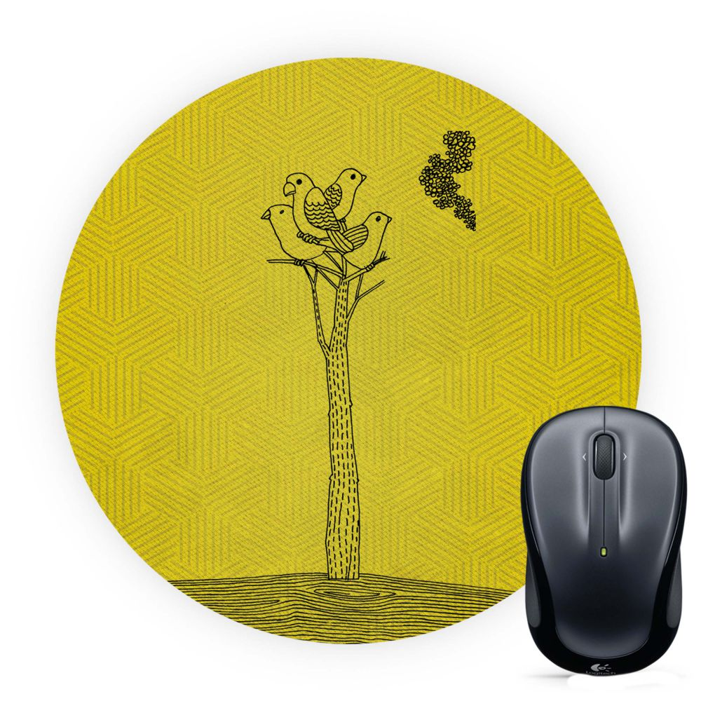 Watch tower Mouse Pad (Round)