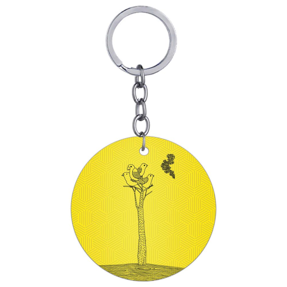 Watch tower Round Keychain