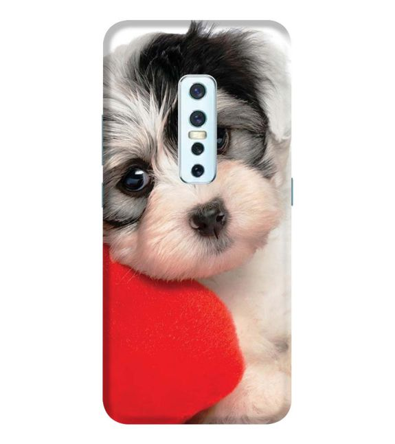 Puppy With Pillow Back Cover for Vivo V17 Pro