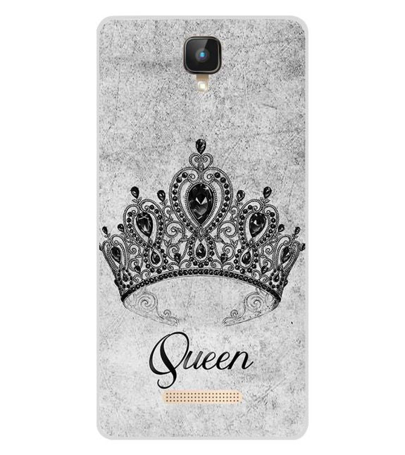 Queen Back Cover for Intex Aqua Lions 2 4G