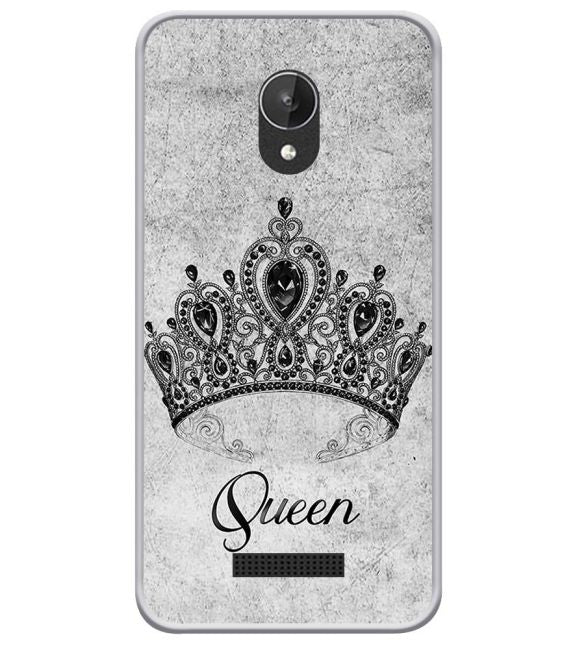 Queen Back Cover for Micromax Spark Q380