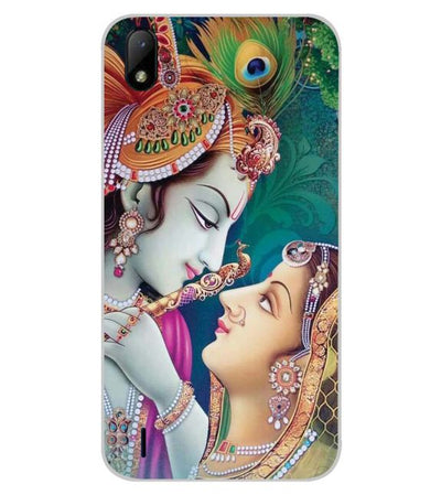 Radha Krishna Back Cover for Lava Z41