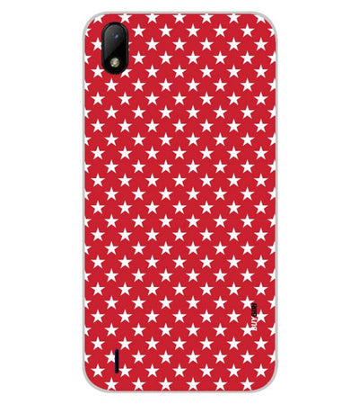 Red Stars Back Cover for Lava Z41
