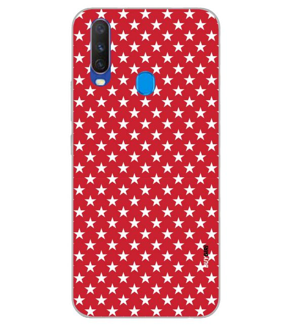 Red Stars Back Cover for Samsung Galaxy A60